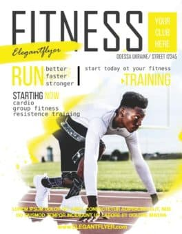 Fitness Sports Free Flyer Template