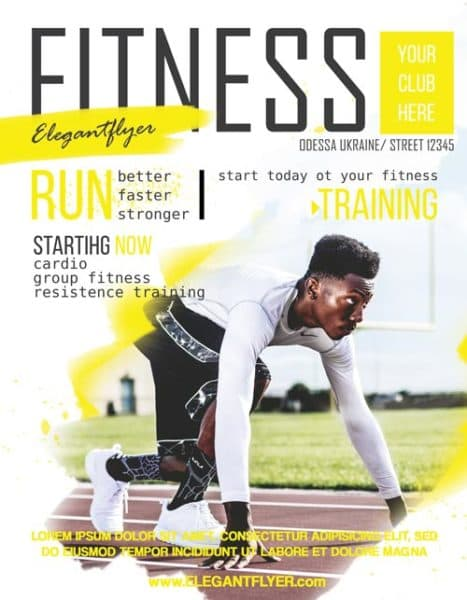 Fitness Sports Free Flyer Template  Download Free Flyer
