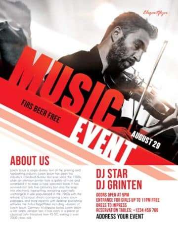 Free Music Event Flyer Template