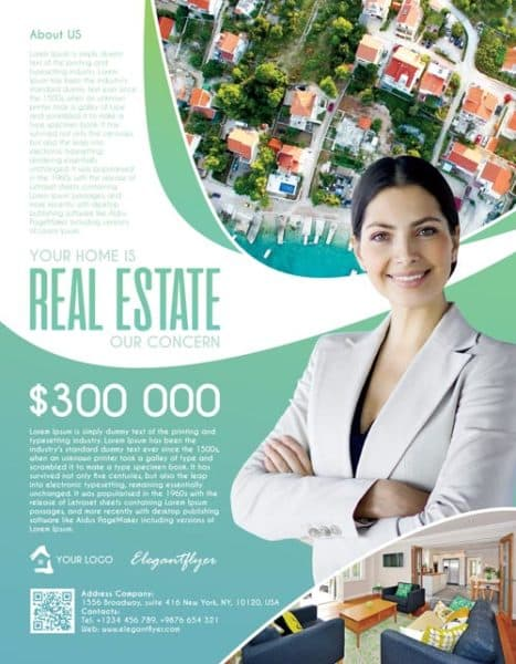 Real Estate Agency Free Flyer Template
