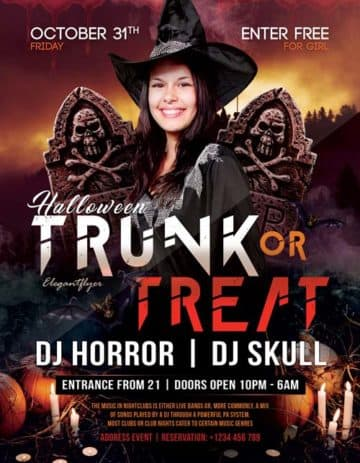 Halloween Club Free Party Flyer Template