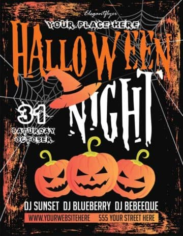 Halloween Night Free Flyer Template