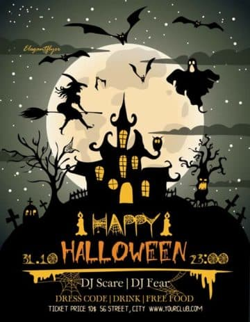 Happy Halloween Free Flyer Template