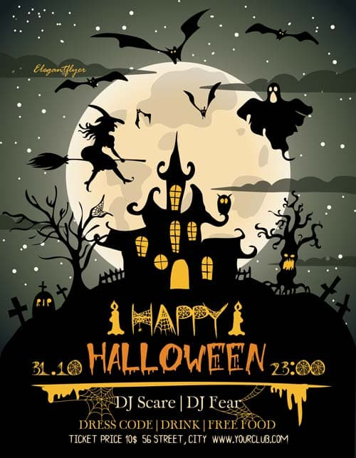 halloween party template
