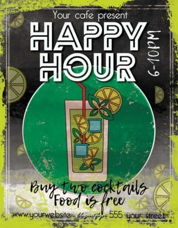Happy Hour Free Pub Flyer Template