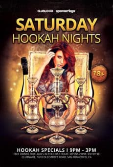 Hookah Nights Free Flyer Template