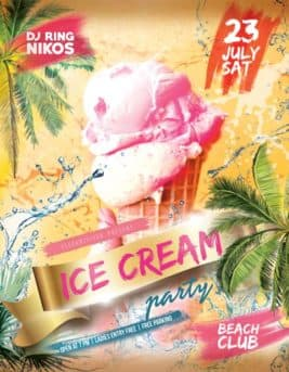 Ice Cream Party Free Flyer Template