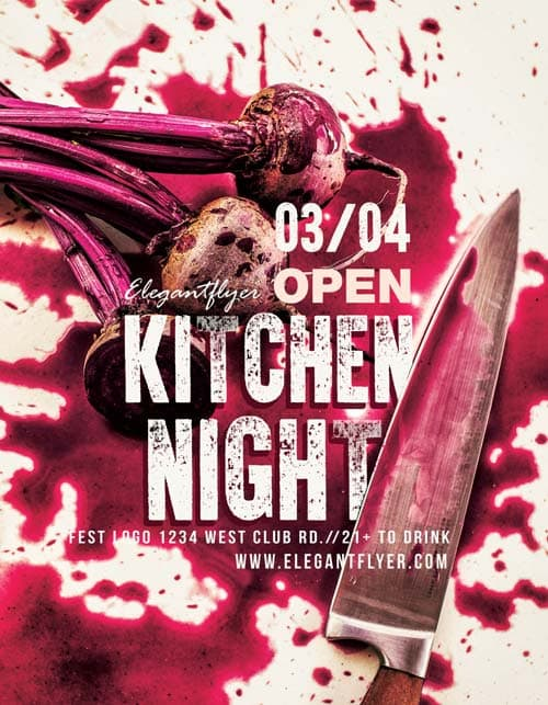 Freepsdflyer  Kitchen Night Free Workshop Flyer Template  Download