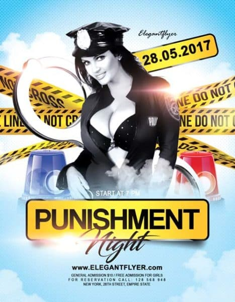Night Punishment Party Free Flyer Template