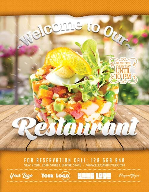 FreePSDFlyer | Free Restaurant Flyer Template - Download 100% Free ...
