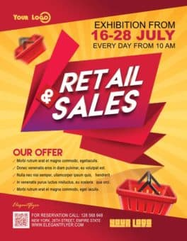Retail Sales Free Business Flyer Template