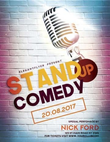 Stand Up Comedy Free Flyer Template