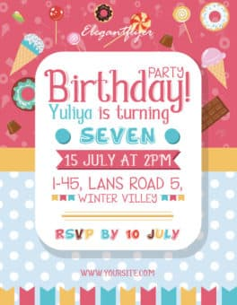 Download The Best Free Birthday Flyer Designs For Photoshop - Birthday invitation photoshop template