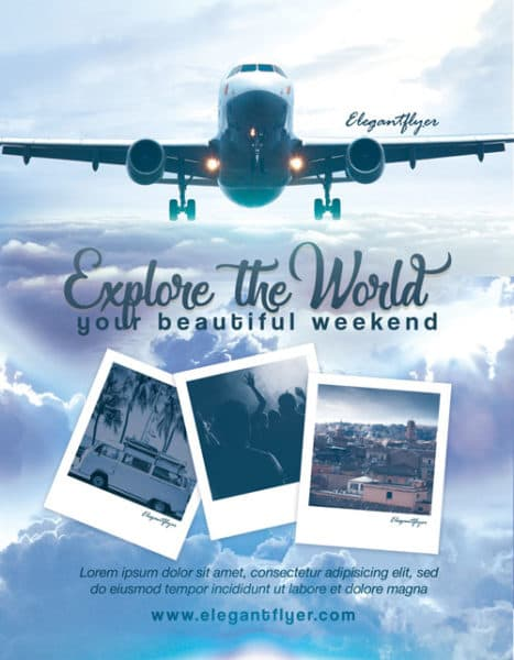 The World Traveling Free Flyer Template