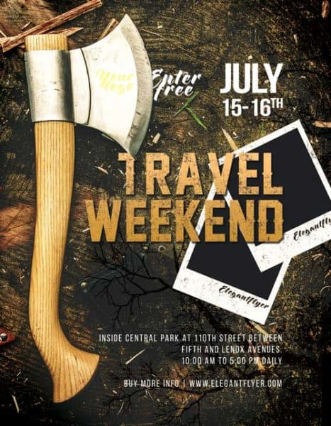 Travel Weekend Free Flyer Template