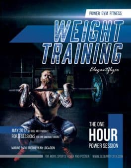 Weight Training Free Fitness Flyer Template