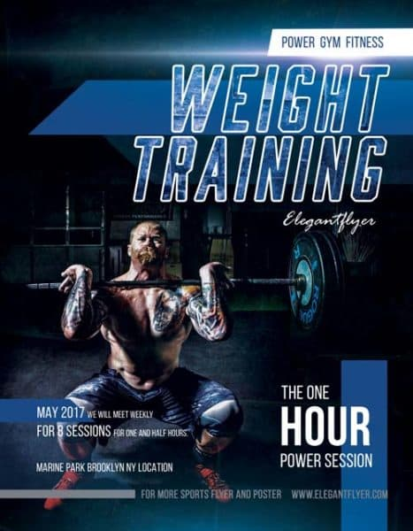 Weight Training Free Fitness Flyer Template  Download Free Flyer