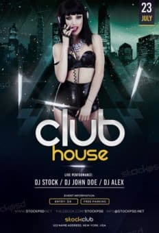 Club House Party Free Flyer Template