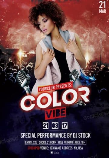 Club Vibe Party Free Flyer Template