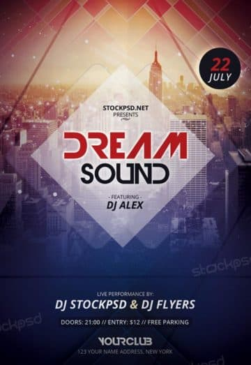 Dream Sound Free Flyer Template