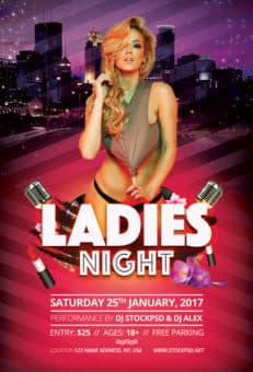 Ladies Night Out Party Free Flyer Template