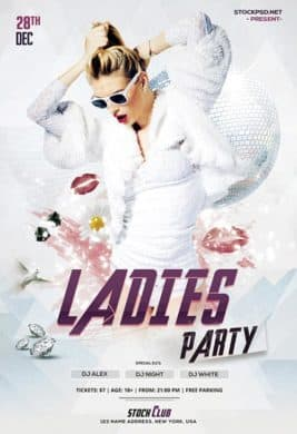 Ladies Night Party Free Flyer Template