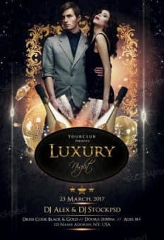 Luxury Nights Free Flyer Template