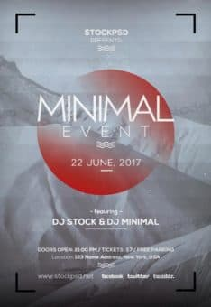 Minimal Party Event Free Flyer Template