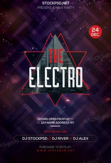 Electro Free Party Flyer Template