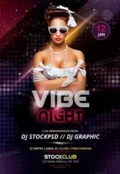 Vibe Night Free Party Flyer Template