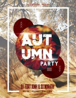 Autumn Party Free Flyer Template