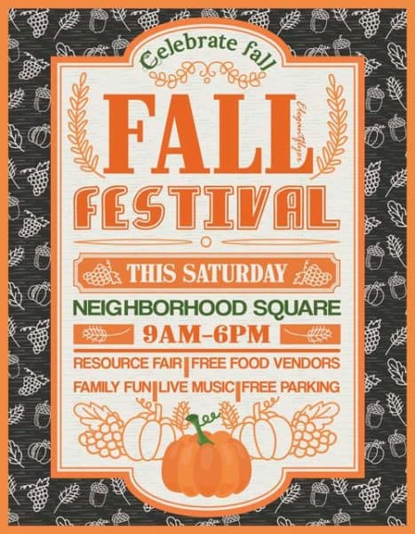 Fall Festival Free Party Flyer Template