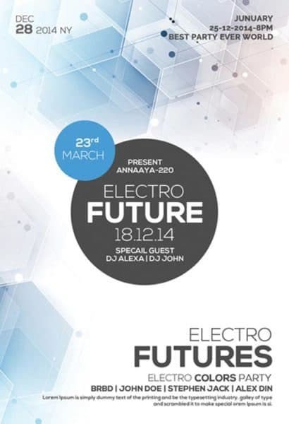 Free Future Electro Party Flyer Template