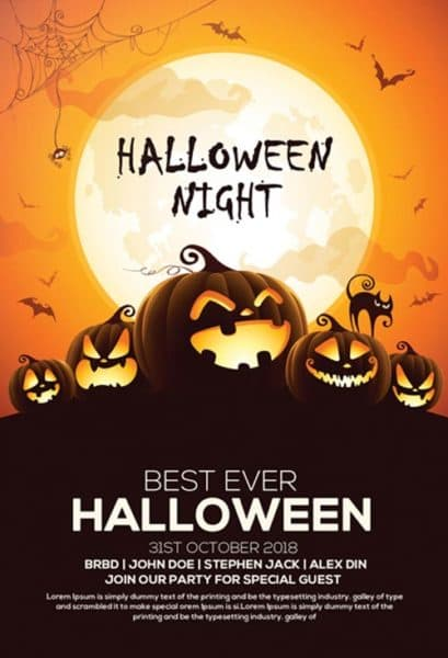 Free Halloween Party Invitation Flyer Template Download Freebie now – Party Invitation Flyer