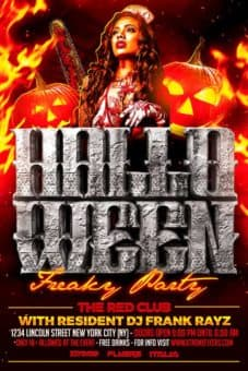 Free Halloween Horror Party Flyer Template