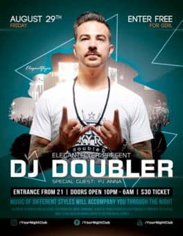 Club Party DJ Event Free Flyer Template