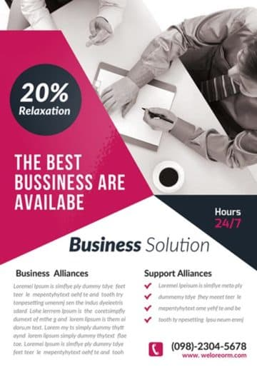 Business Corporate Agency Free Flyer Template