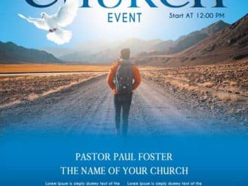 Free Church Event Free Flyer PSD Template