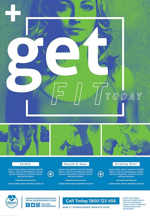 Free Fitness Poster and Flyer Template