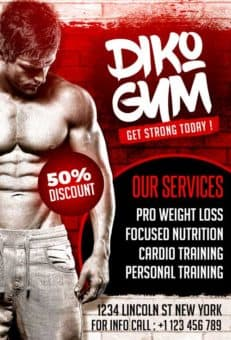 Free Gym PSD Flyer Template