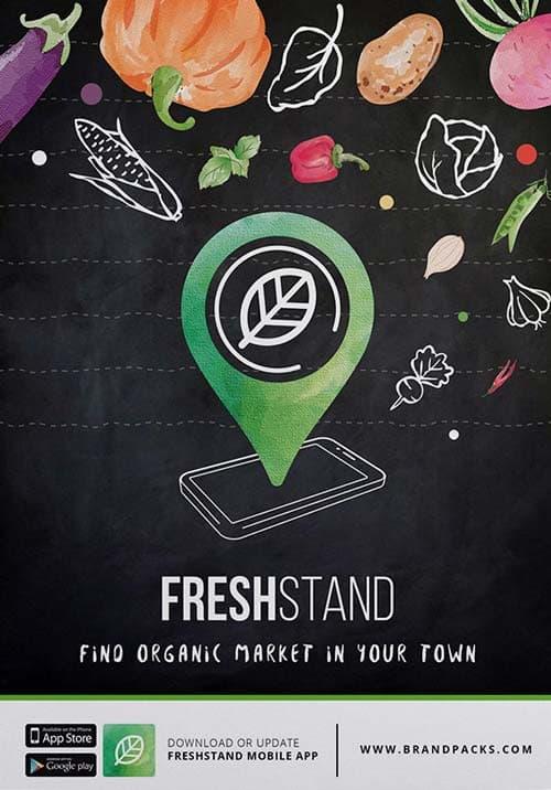 Organic Market Free Flyer Template