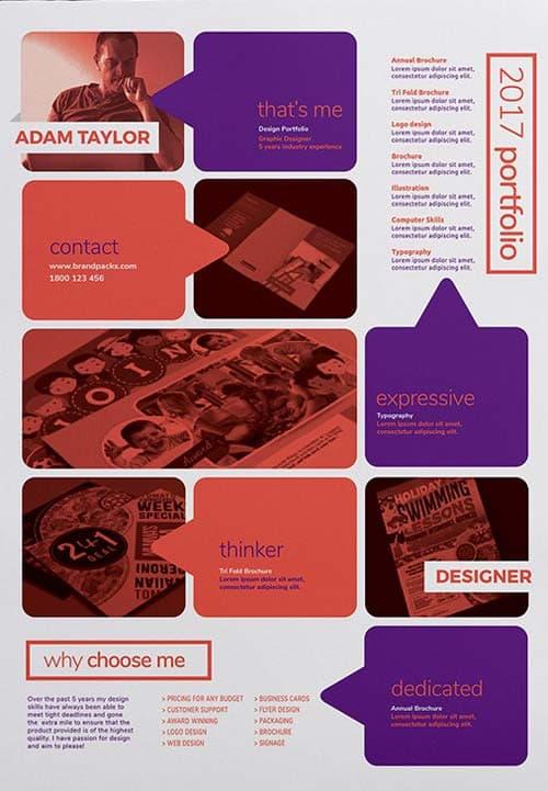 Free Creative Portfolio Poster Template