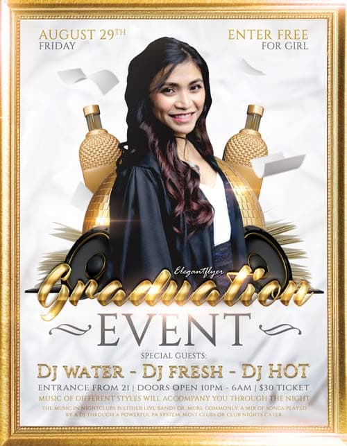 Graduation Prom Event Free Flyer Template