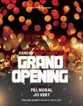 Grand Opening Event Party Free Flyer Template