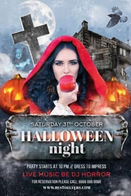 Halloween Night Free Party Flyer Template