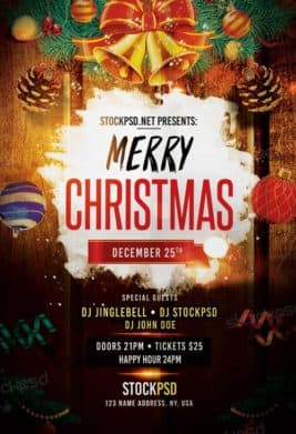freepsdflyer download free christmas flyer psd templates for photoshop