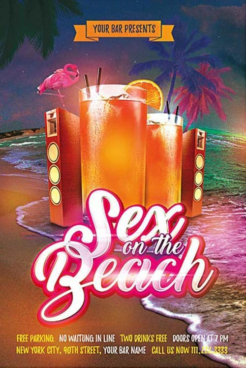 Summer Cocktail Party Free PSD Flyer Template
