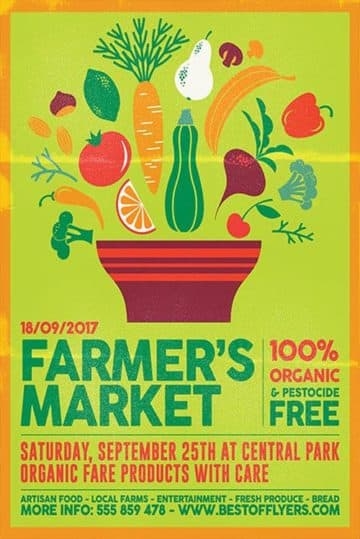 Farmers Market Free Poster Template