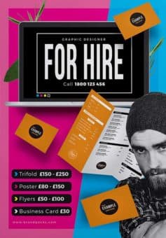 Free psd flyer templates to download for photoshop freelancer for hire free poster template pronofoot35fo Images