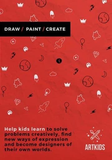 Kids Art School Free Flyer Template